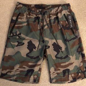 Empire Zumiez Brand Camo Shorts Swimsuit Small